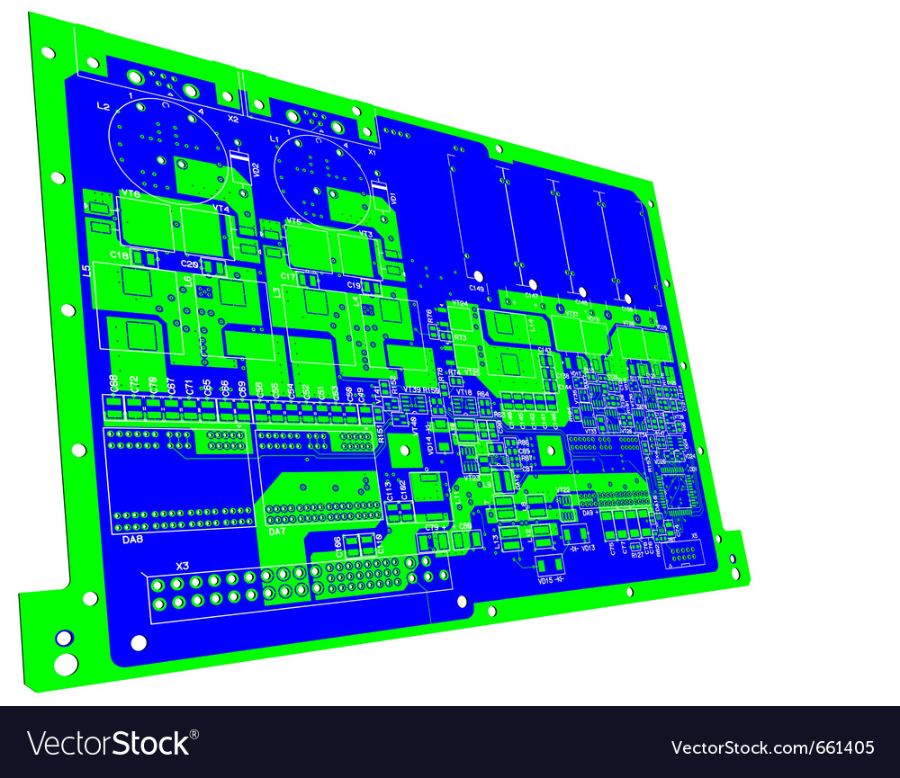 Printed circuit board without electronic component