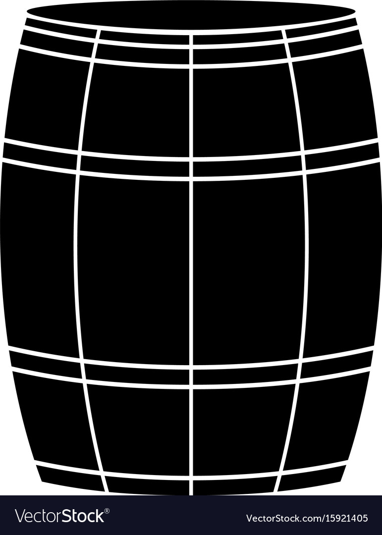 Wine or beer barrels black color icon
