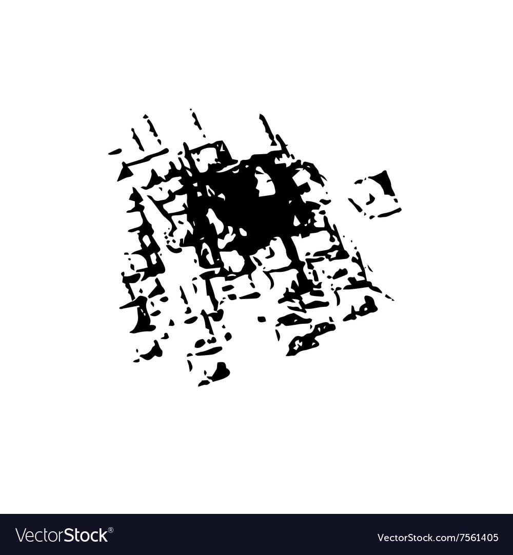 Worn grunge surface ink background