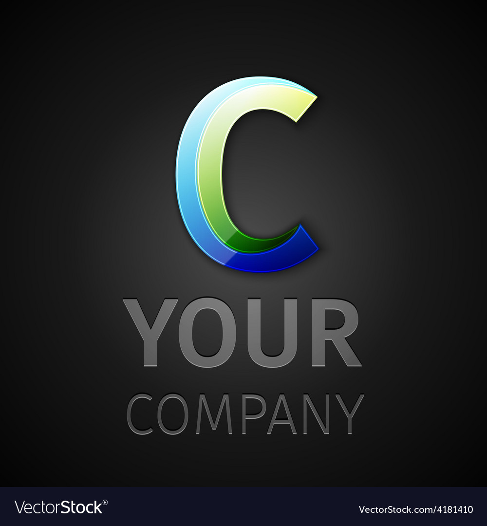 Abstract logo letter C