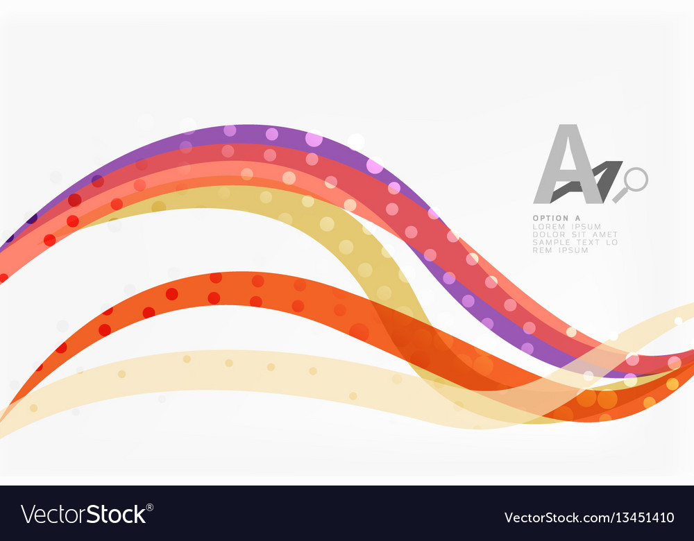 Abstract wave lines background