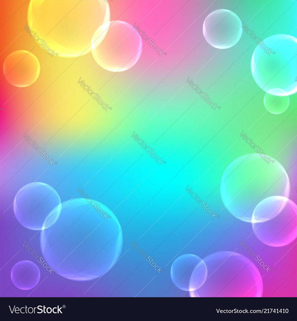 Bubbles on abstract gradient background