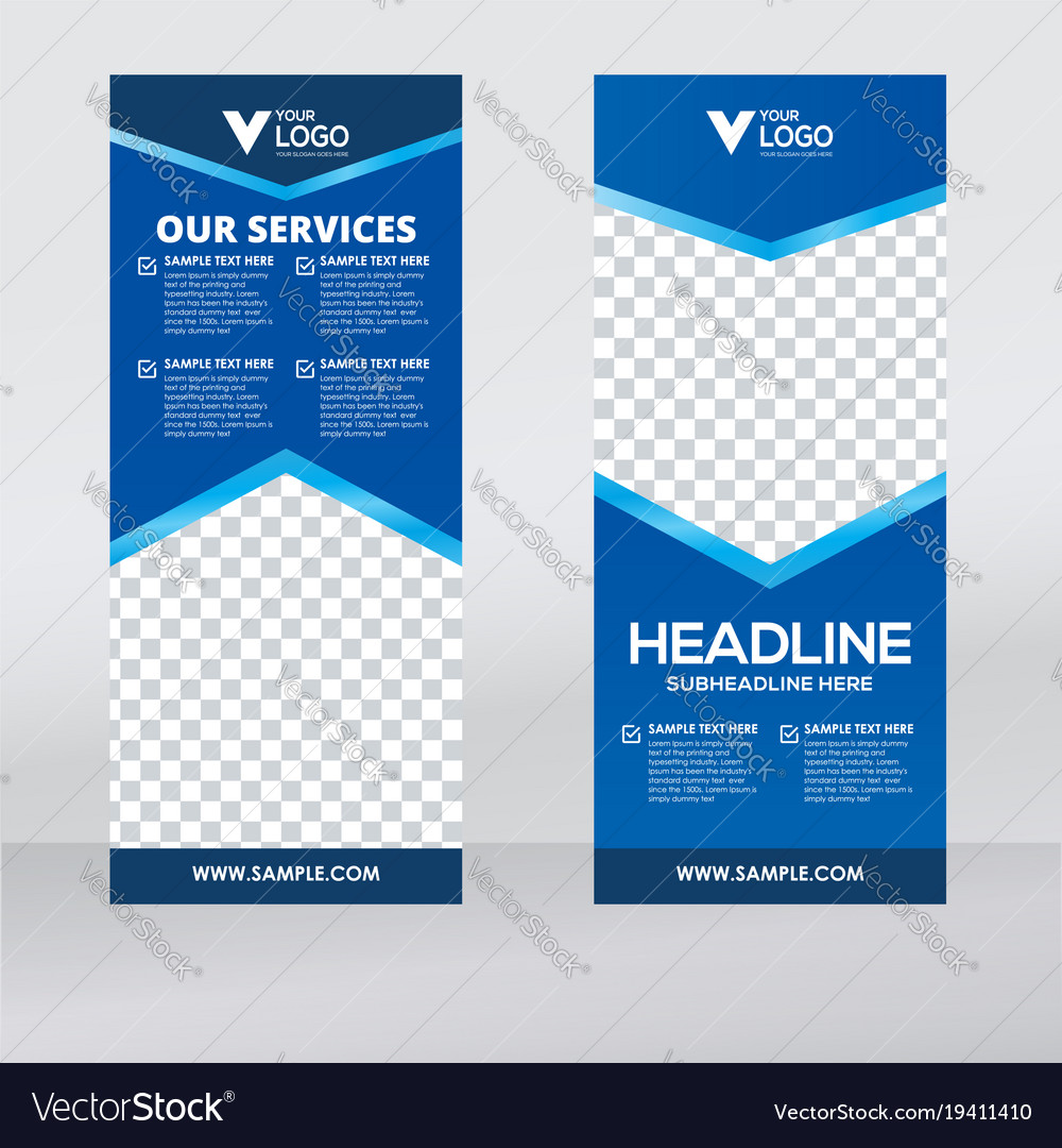 Banner Designer | Creative Roll Up Banner Design Template Royalty Free Vector