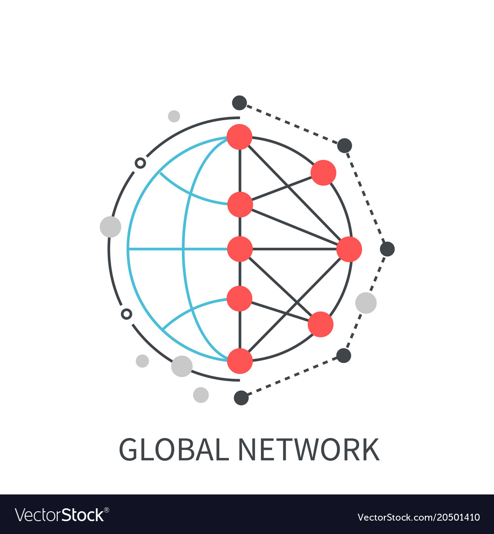 Global network modern concept