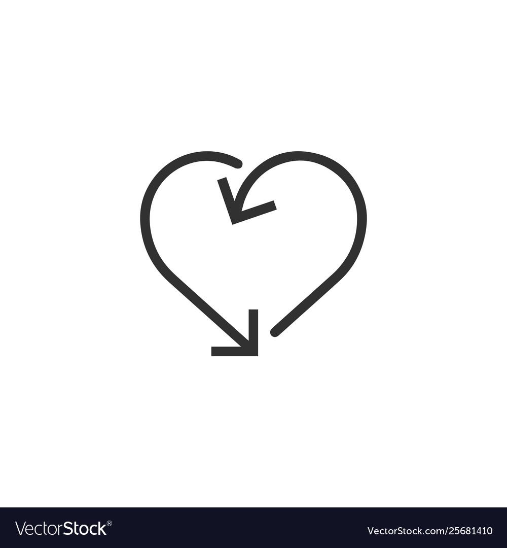 Heart made out arrows heart arrow frameicon
