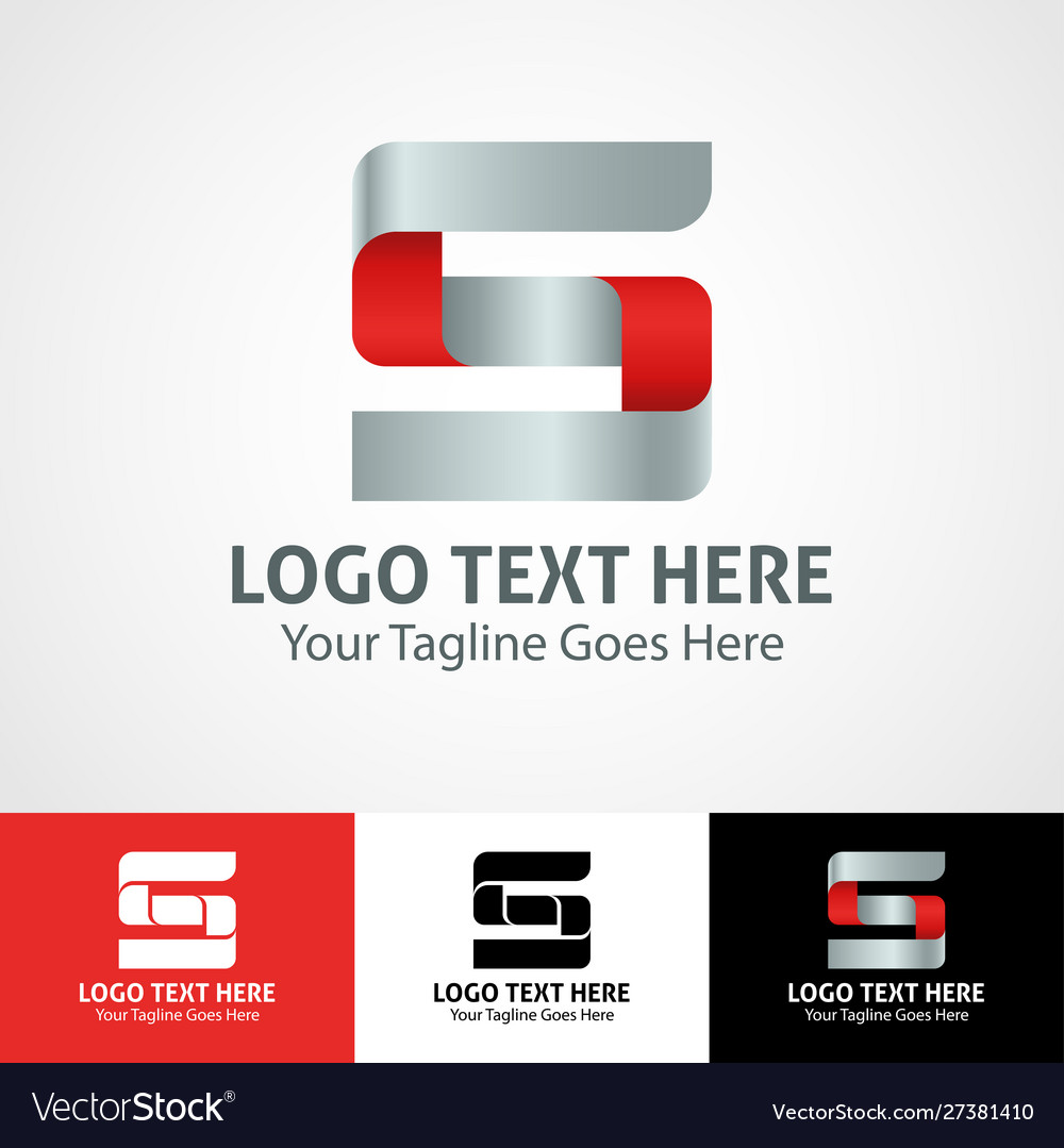Hi-tech trendy initial icon logo s