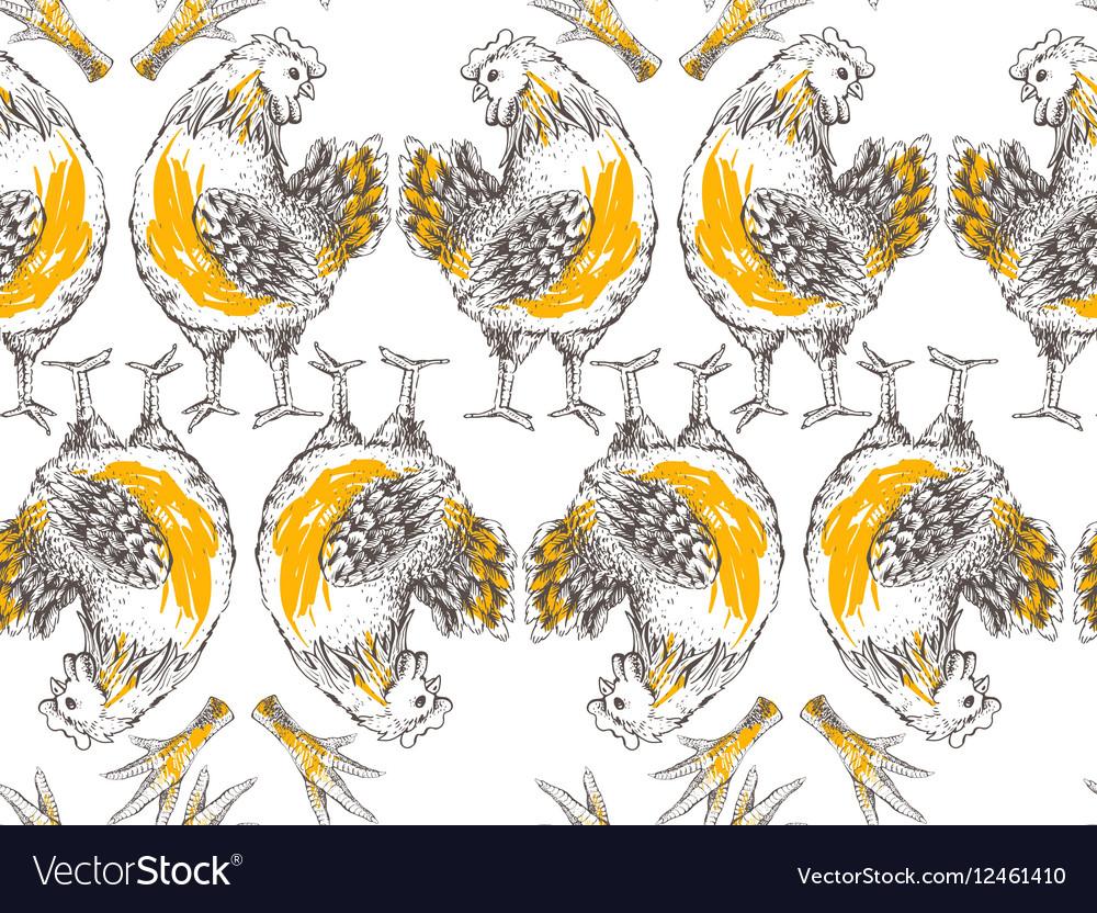 Seamless designe pattern vector image