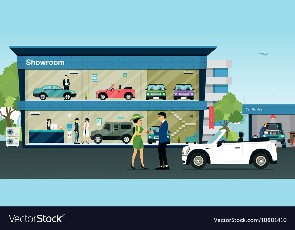 Showroom car vector image