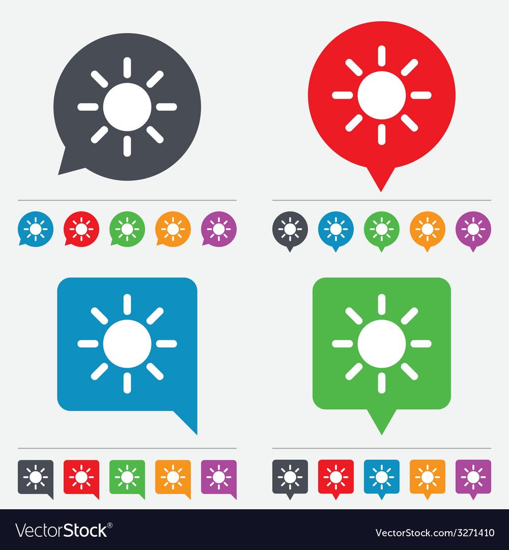 Sun sign icon Solarium symbol Heat button