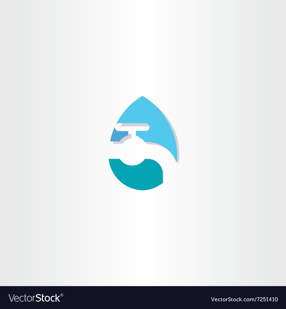 Water drop with tap logo icon symbol Royalty Free Vector