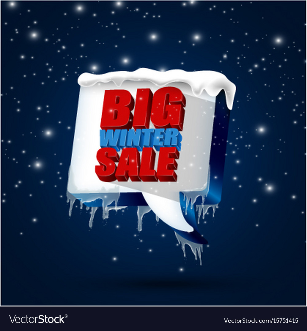 Big winter sale background