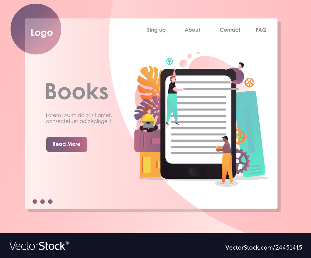 Books website landing page design template