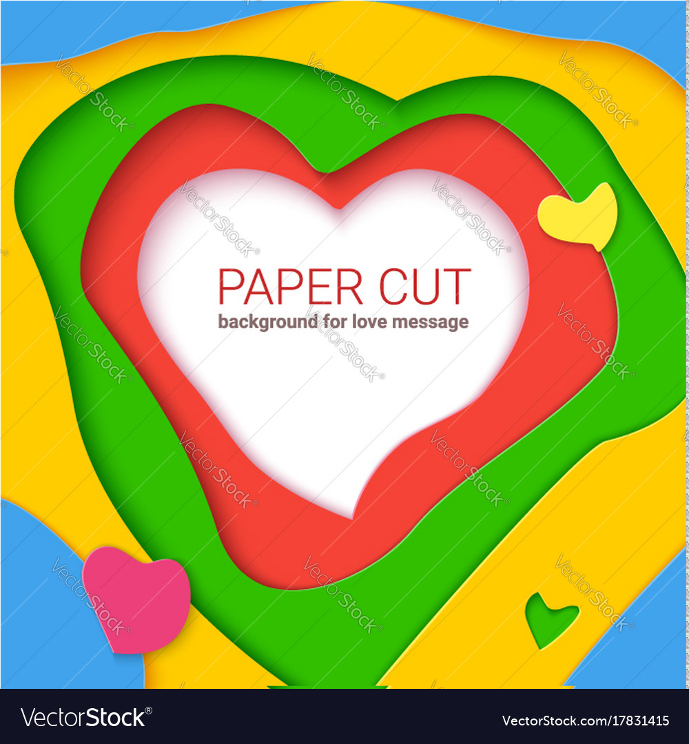 Color Templates With Paper Cut Shapes Modern Vector Image