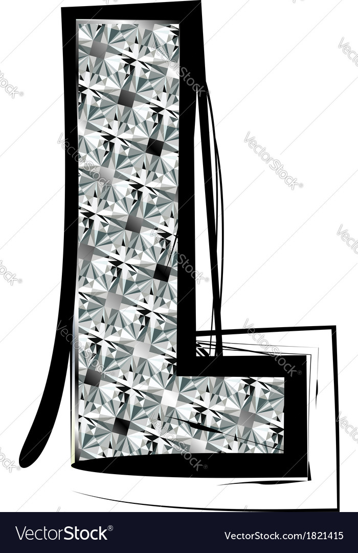 Diamond Font Letter L Vector Image