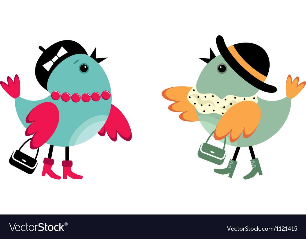 Fashionable birdies