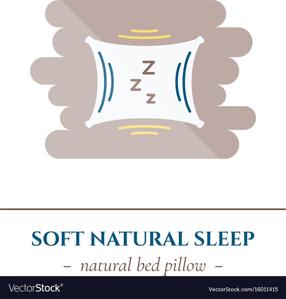 Flat sleep icon