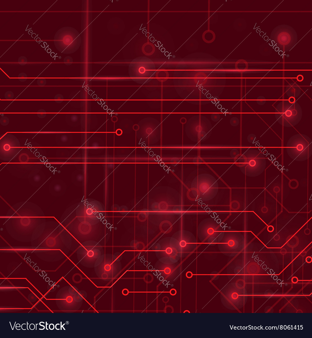 High Tech Printed Circuit Board Royalty Free Vector Image Detail Of A Stock