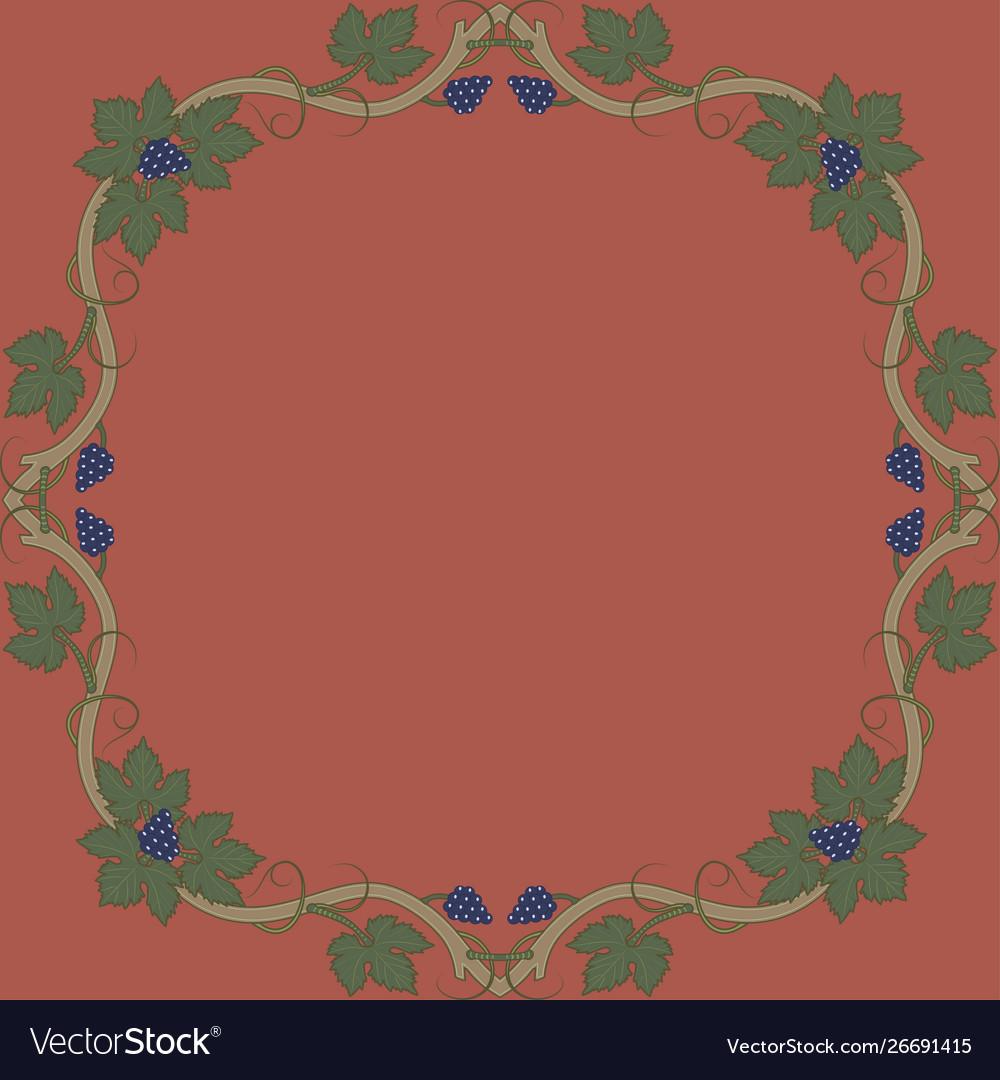Medieval floral frame