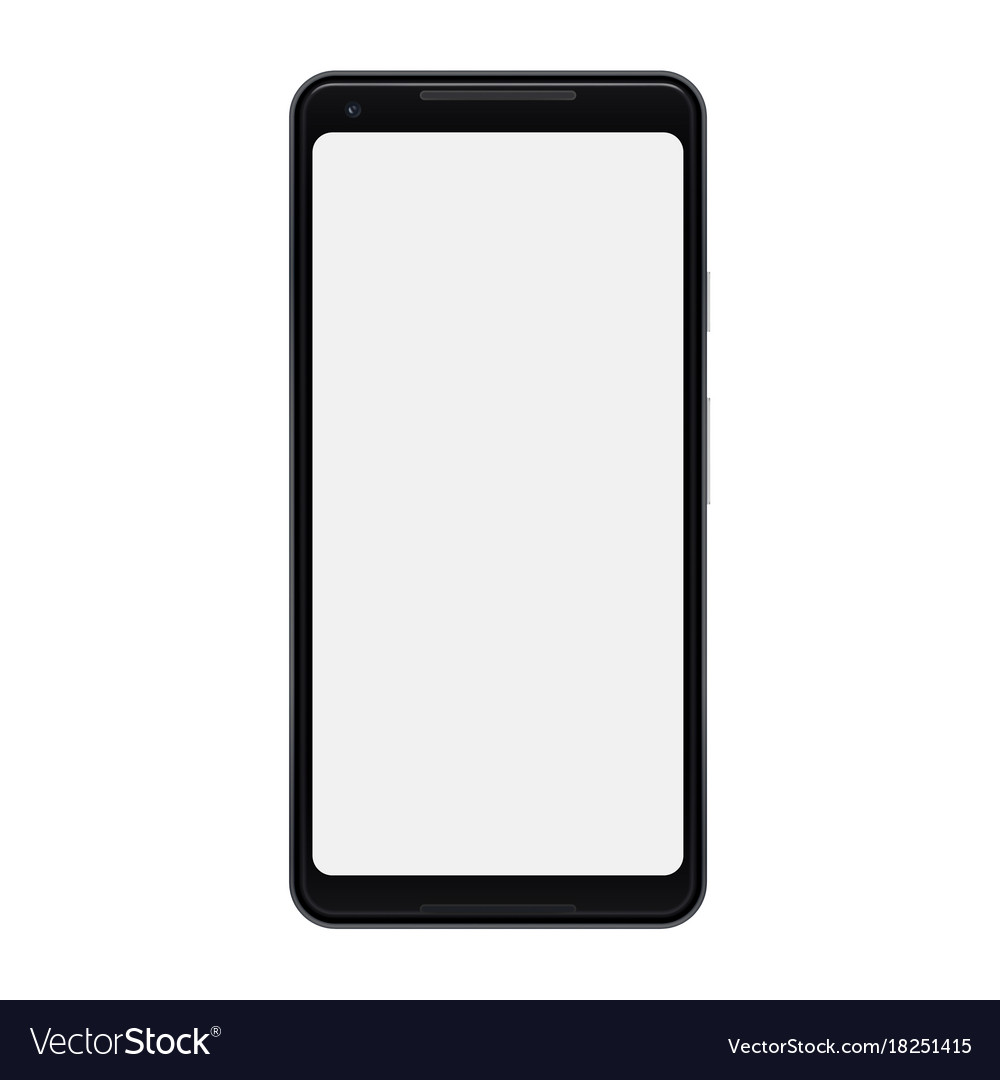 Modern Smartphone Isolated Mobile Phone Vector Image