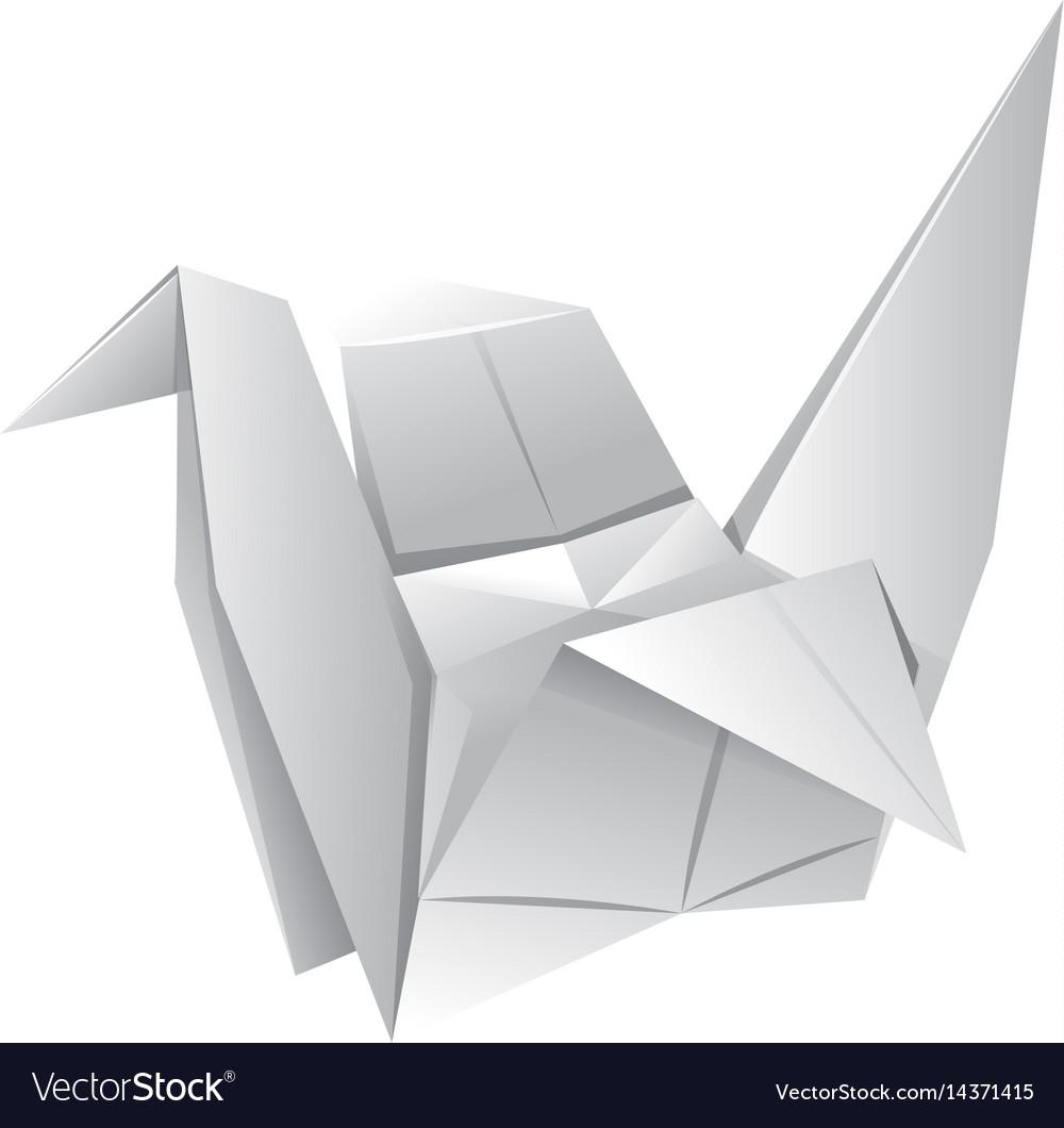 Origami art with paper bird