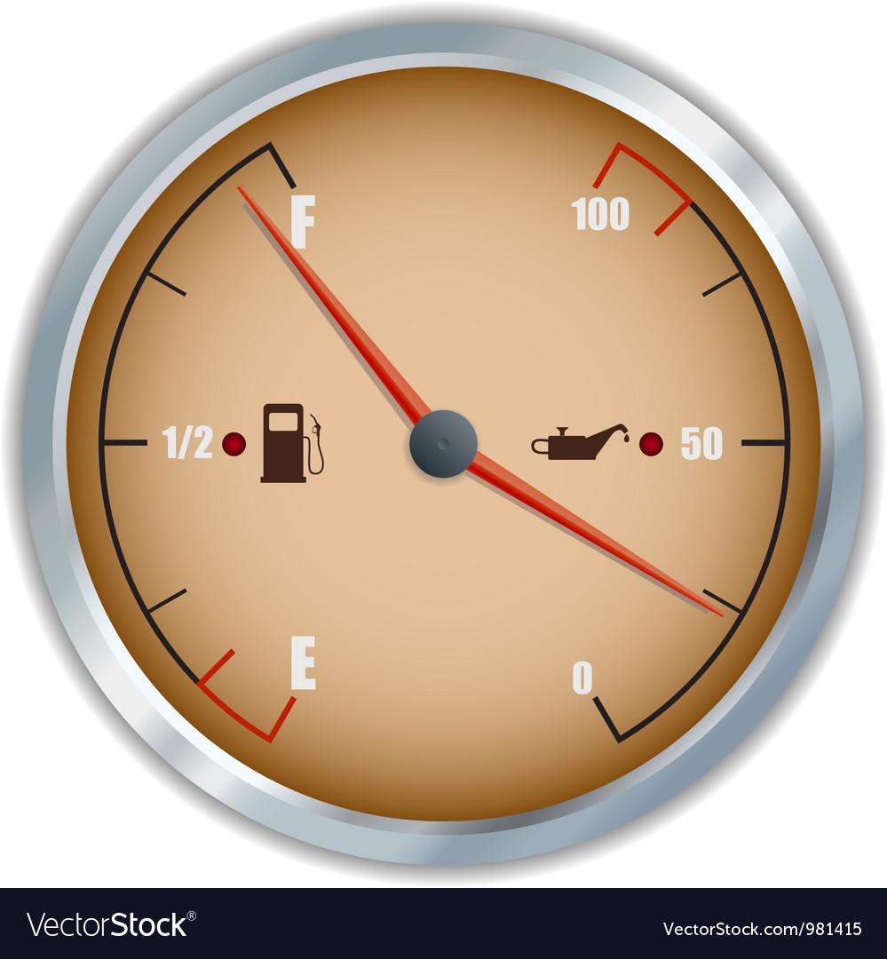 Retro fuel and oil gauge icon