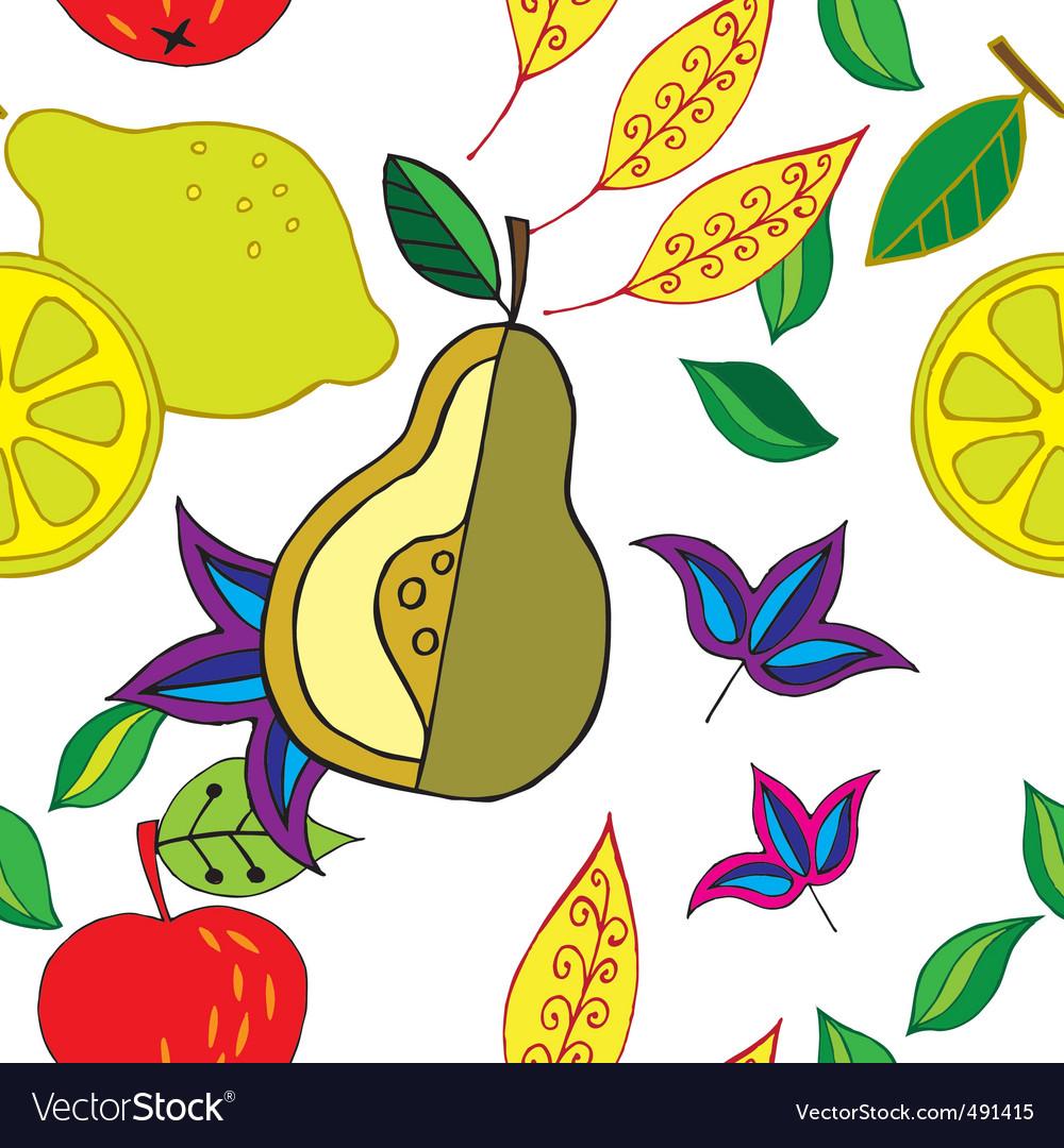 Spring fruit pattern