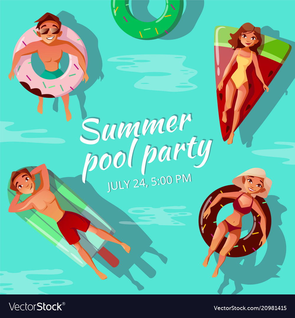 Summer pool party vector