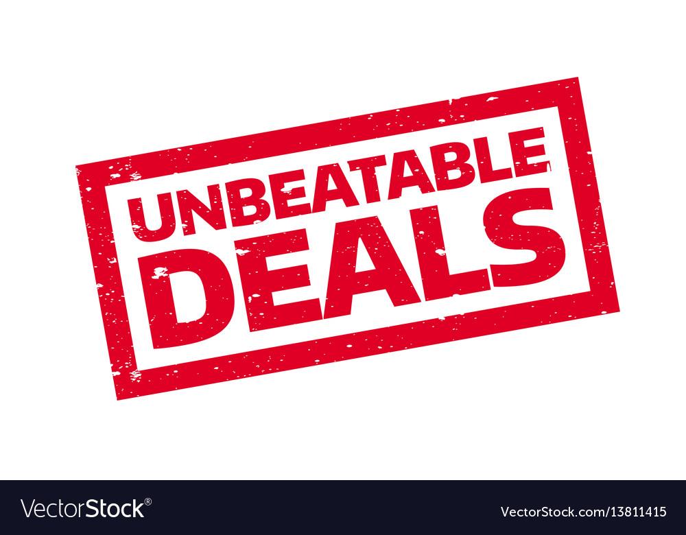 Unbeatable deals rubber stamp