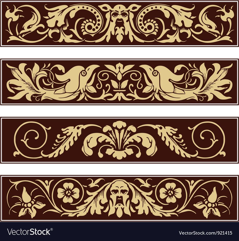 Victorian Ornamental Vintage Decoration Border