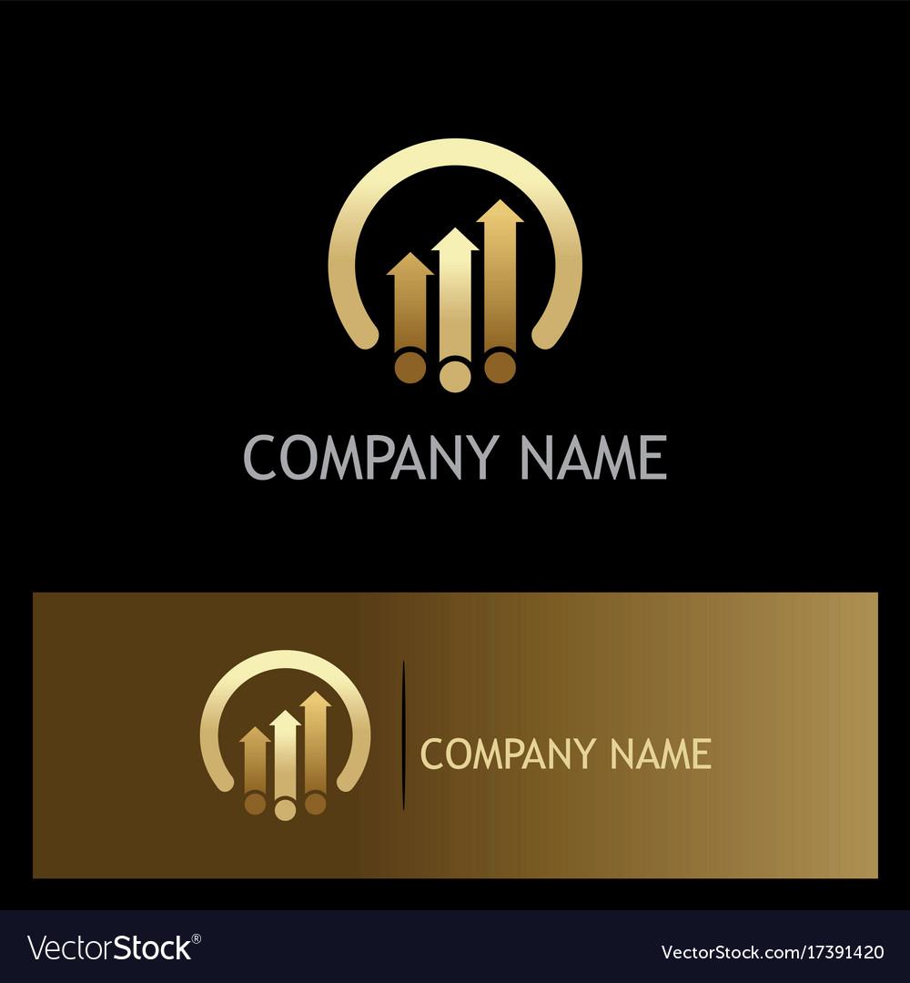 Arrow business finance progress gold logo