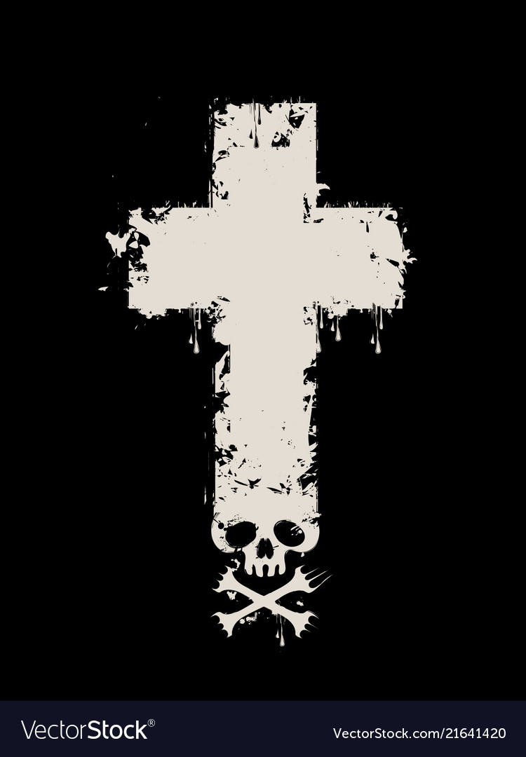 Banner with abstract cross skull and bones