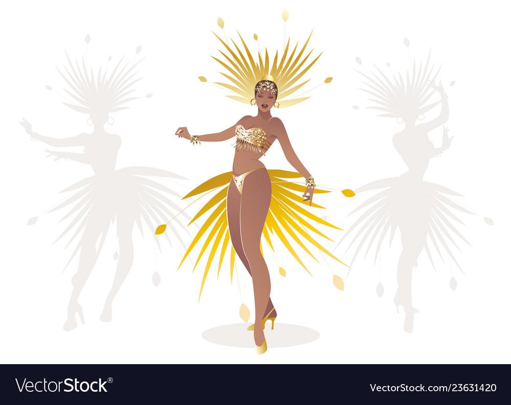 Beautiful dancing girl dressed like a star