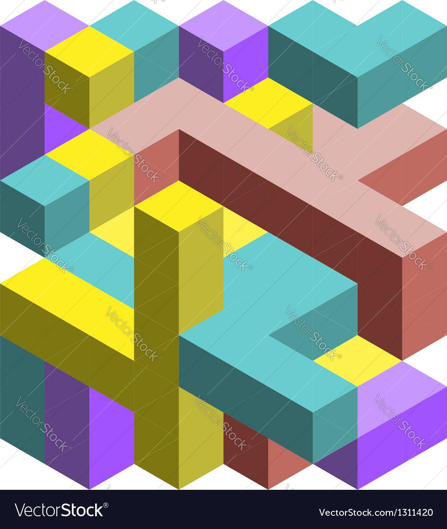 Colorful 3D cubes