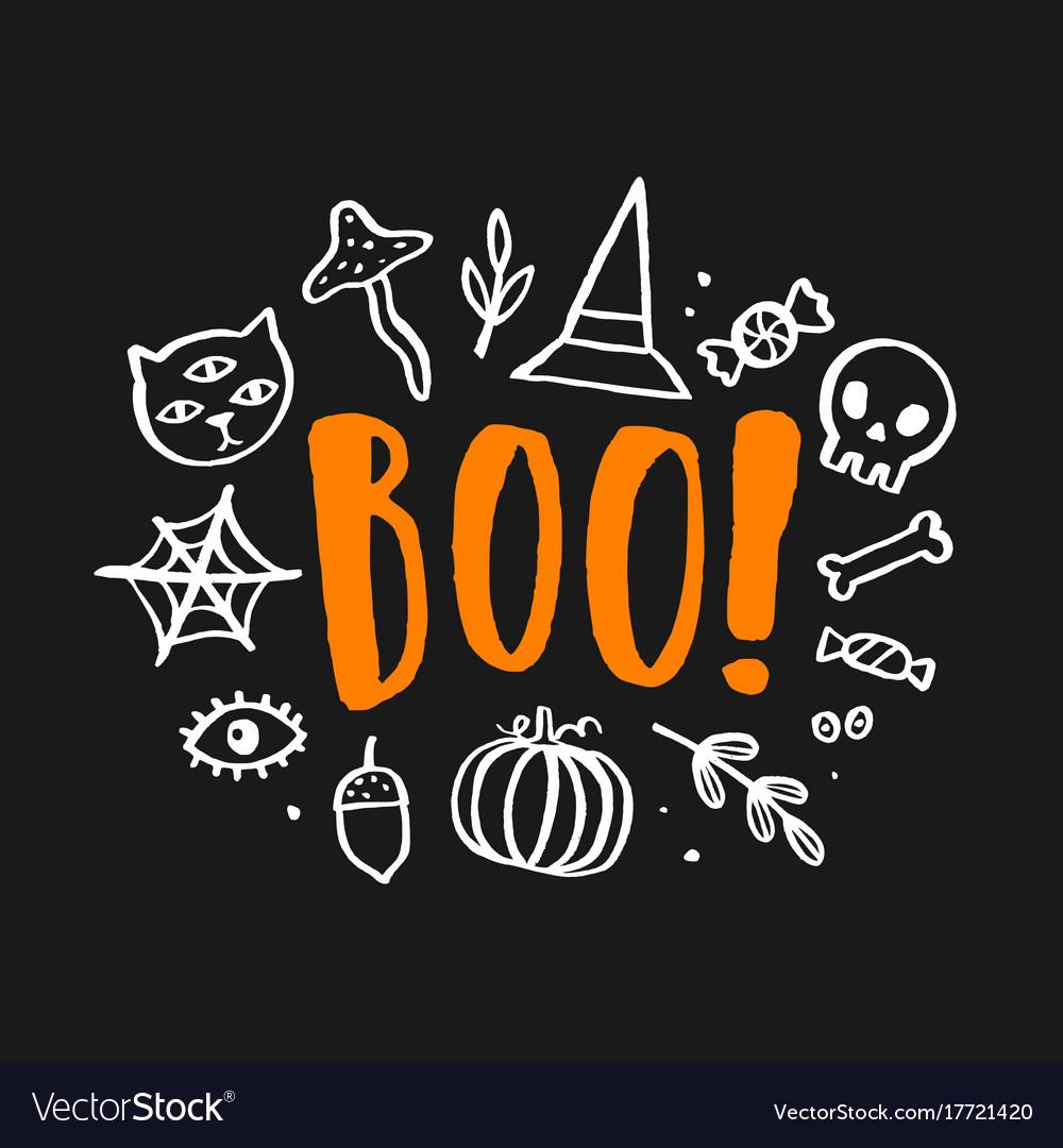 Cute Pictures Of Halloween.Halloween Cute Royalty Free Vector Image Vectorstock