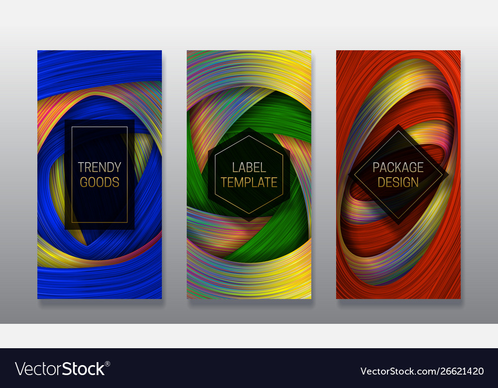 Luxury Packaging Design Set Colorful Labels Vector Image