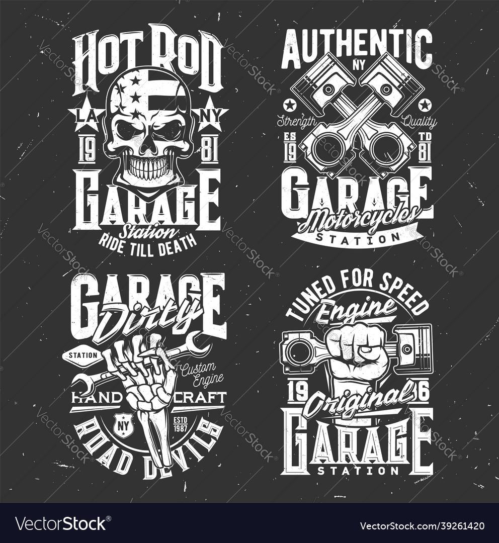 Motorcycle biker skull custom choppers garage