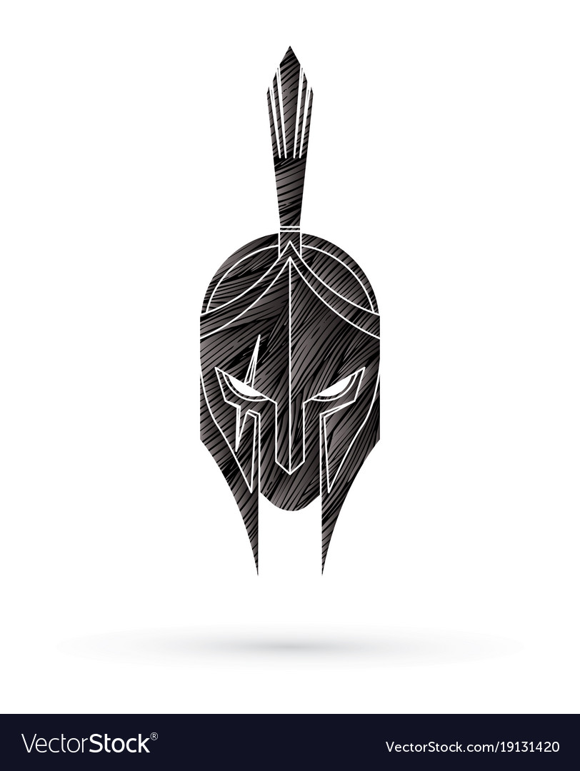 Roman Or Greek Helmet Spartan Helmet Royalty Free Vector