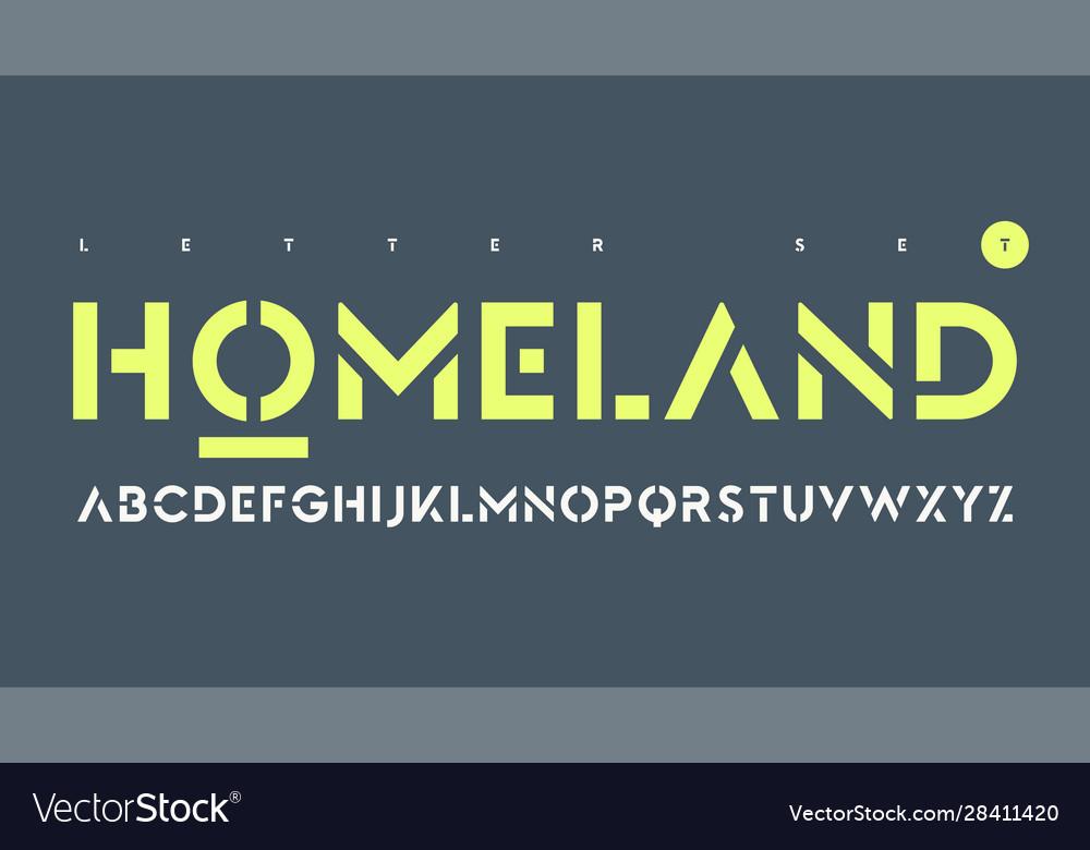 Sans serif urban stencil letter set
