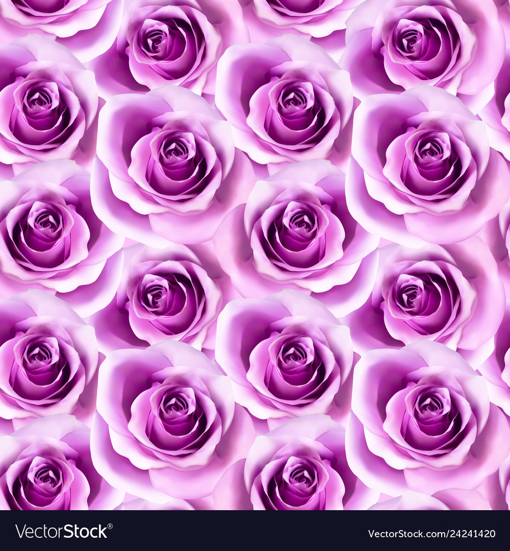 Seamless pattern with photorealistic pink