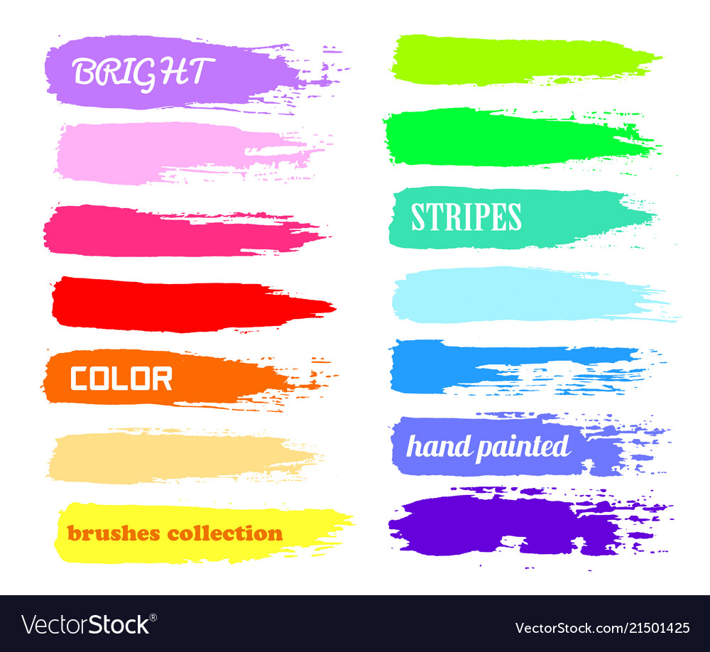 Brush strokes - color paint backdrop for text