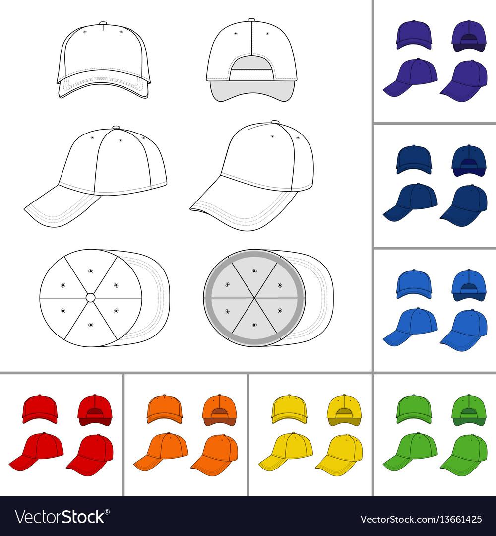 Cap set vector image