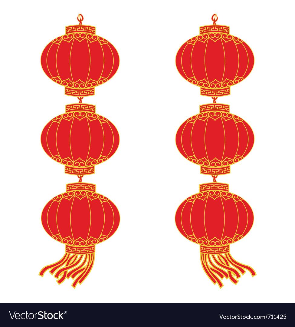 Chinese Lantern Garland Royalty Free Vector Image