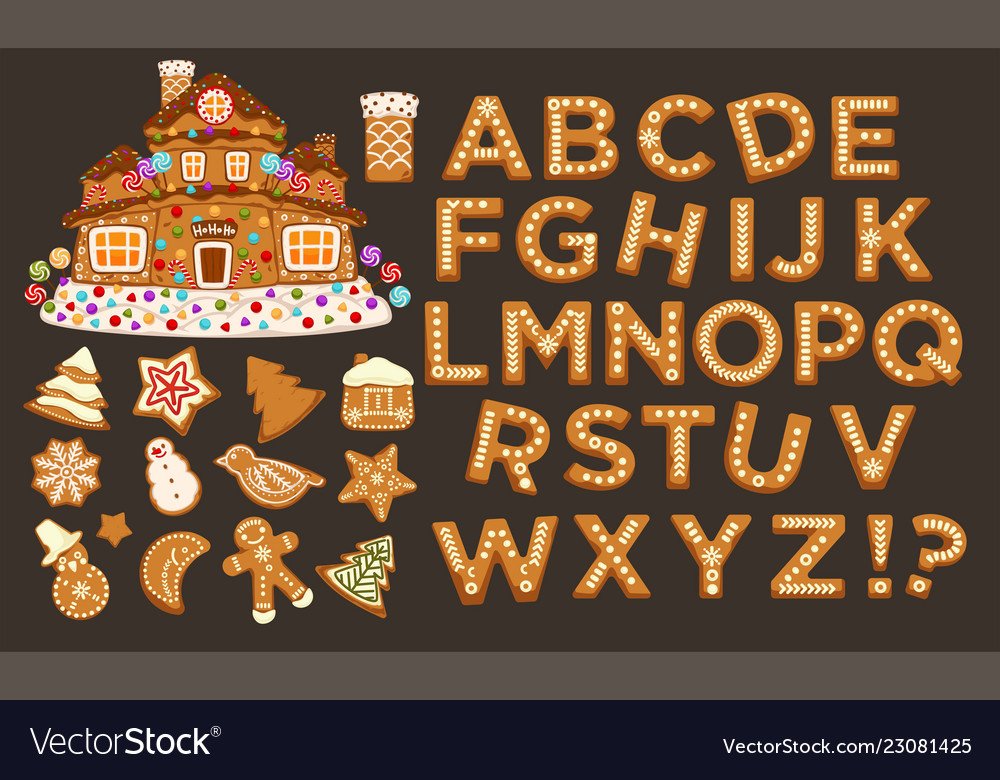 Happy holidays christmas abc letters font