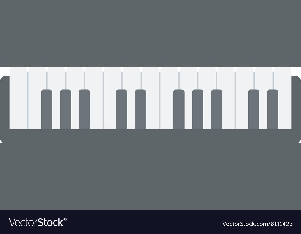 Top view of piano keyboard