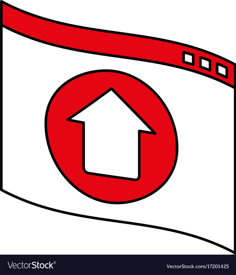 Website or tab with upwards arrow icon image