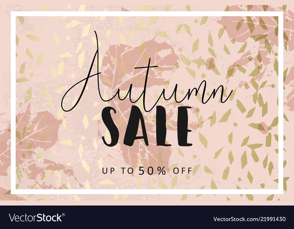 Autumn collection gold blush background