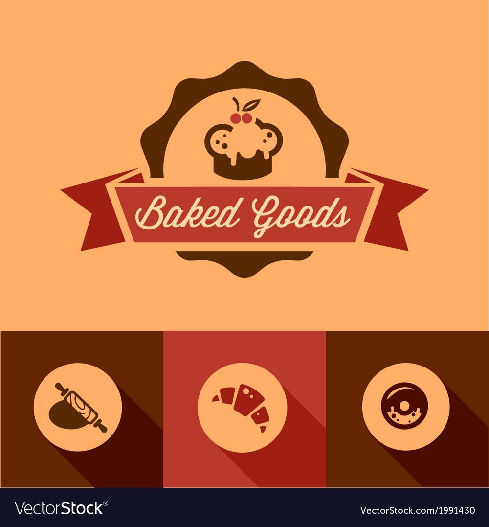 Bakery design icons