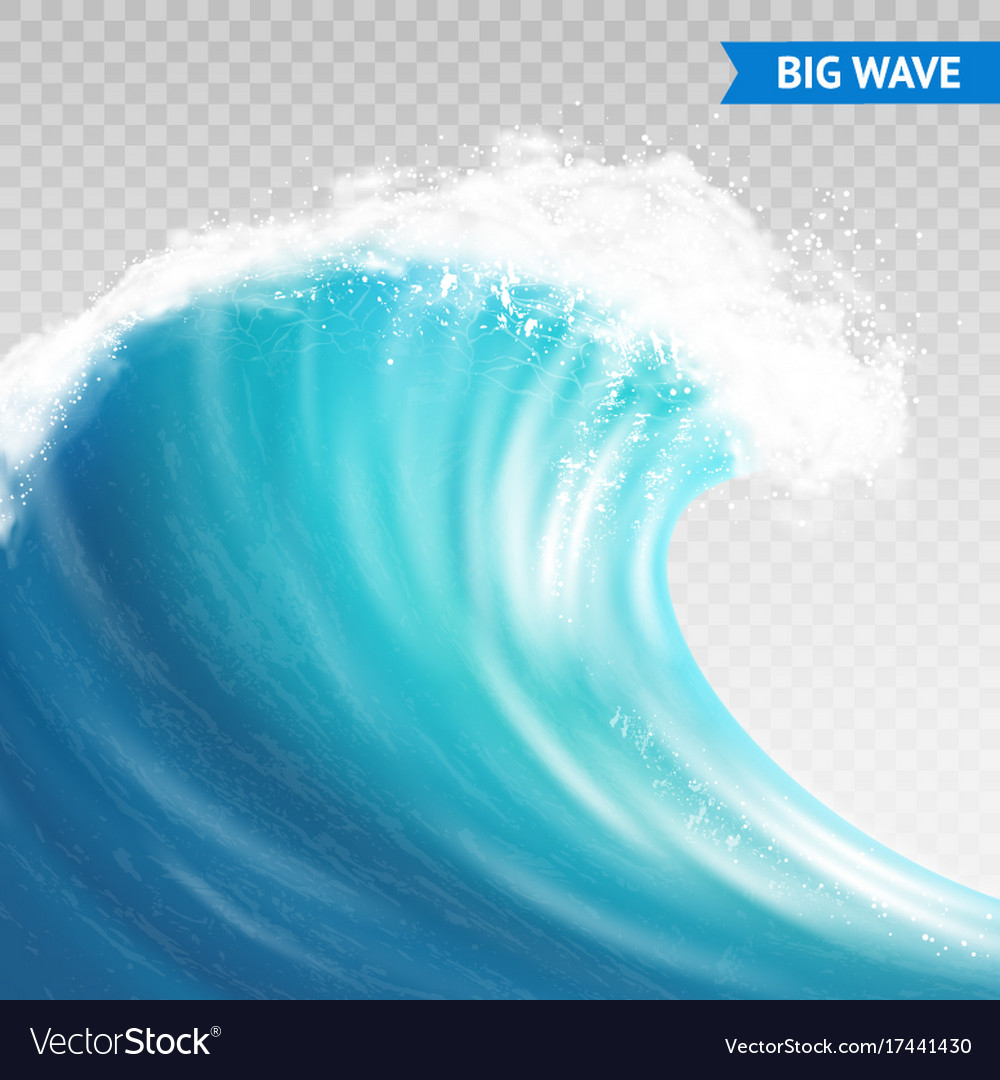 Big Wave On Transparent Background