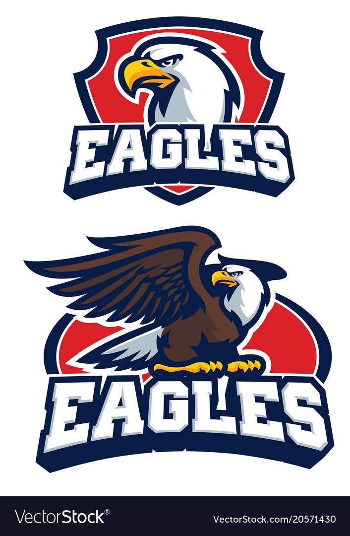Eagle mascot in set
