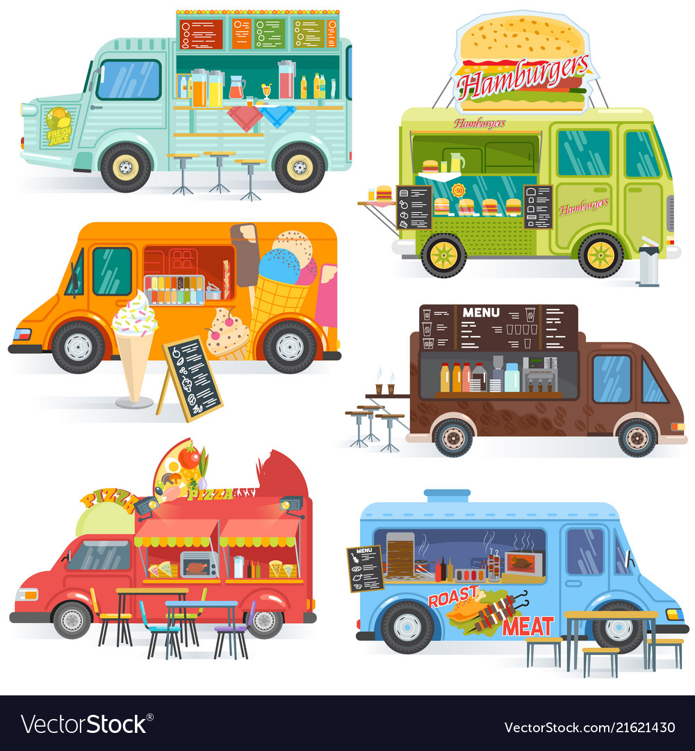 Food truck street food-truck vehicle and